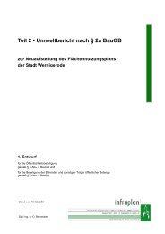 Teil 2 - Umweltbericht nach § 2a BauGB zur ... - Wernigerode