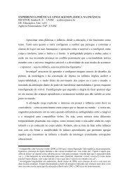 EXPERIENCIA POÉTICA E LINGUAGEM PLÁSTICA NA ... - ANPEd