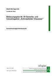 Bebauungsplan Nr. 05 Gewerbe- und Industriegebiet ... - Wernigerode