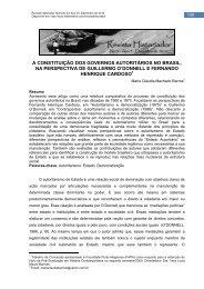 a constituição dos governos autoritários no brasil, na ... - História Livre