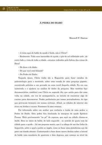 CONTO: A Pedra do Diabo – Maxwell F. Dantas - Revista Blecaute