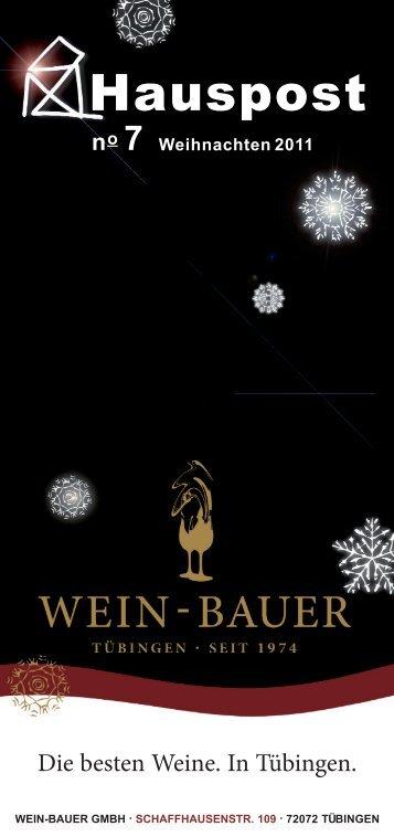 Hauspost Dezember 2011 - Wein-Bauer GmbH