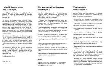 Familienpass-Flyer 2012-11 - Stadt Wertheim