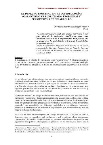 garantismo vs. publicismo - EGACAL