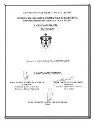Sexualidad Humana - Centro Universitario de los Altos ...