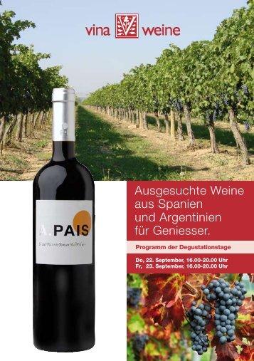 Ausgesuchte Weine aus Spanien und Argentinien für ... - Vina Weine