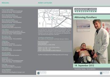 Aktionstag Kunstherz - Herzzentrum Leipzig