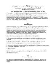 Satzung der Stadt Wesselburen über die Erhebung einer ...