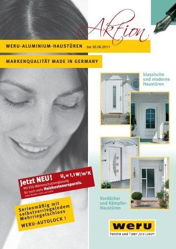 Haustüren WERU-ALUMINIUM-HAUSTÜREN MARKENQUALITÄT ...