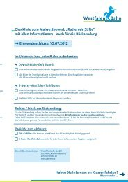 """Checkliste zum Malwettbewerb """"Ratternde Stifte"""" - WestfalenBahn ..."""