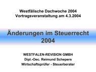 Änderungen im Steuerrecht 2004 - BDO Westfalen-Revision GmbH ...