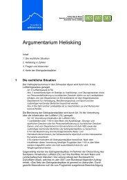 Argumentarium Heliskiing - VCS Verkehrs-Club der Schweiz