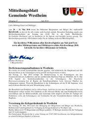 Mitteilungsblatt Westheim Nr. 06-2010