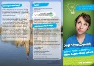 Flyer Jugendwettbewerb - Institut Raum & Energie