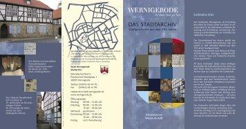 FB Stadtarchiv neu 2.indd - Wernigerode