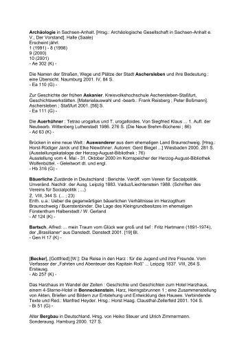 Archäologie in Sachsen-Anhalt - Wernigerode