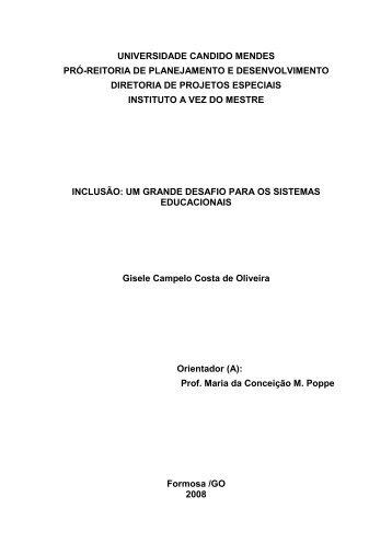 UNIVERSIDADE CANDIDO MENDES - AVM Faculdade Integrada