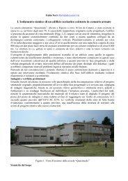 L'isolamento sismico di un edificio scolastico esistente in cemento ...