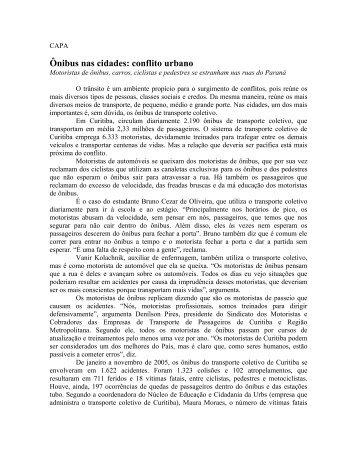 Ônibus nas cidades: conflito urbano - Detran - Governo do Paraná