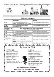 Missionsfest in Gailnau - Wettringen