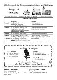 Jubilare im August August 2012 - Wettringen