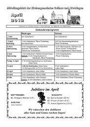 Jubilare im April April 2012 - Wettringen