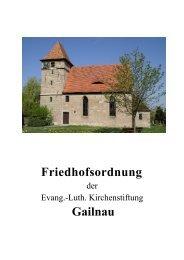 Friedhofsordnung Gailnau - Wettringen
