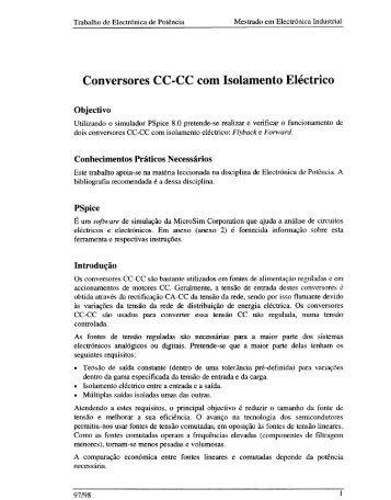 Conversores CC-CC com Isolamento Eléctrico - Usage Statistics for ...