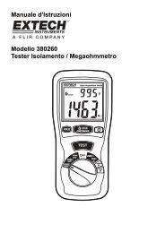 Manuale d'Istruzioni Modello 380260 Tester Isolamento - Extech ...