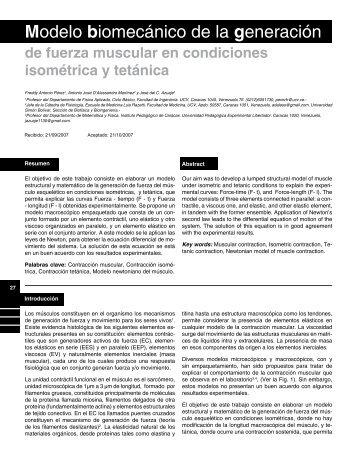 Modelo biomecánico de la generación - SciELO
