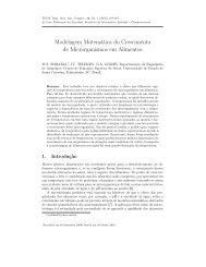 Modelagem Matemática do Crescimento de ... - sbmac