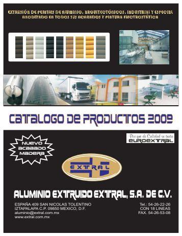 Catálogo - Aluminio | Perfiles de Aluminio | Anodizado