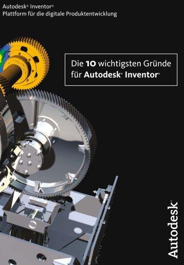 Die 10wichtigsten Gründe für Autodesk® Inventor®