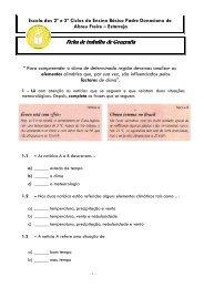 Temperatura - Escola EB23 Padre Donaciano de Abreu Freire