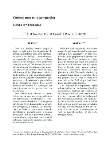Cortiça: uma nova perspectiva - SciELO