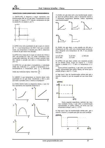 Testes 16 - Termodinâmica
