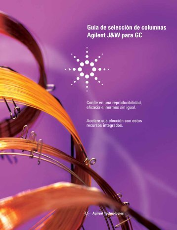 Guía de selección de columnas Agilent J&W para GC
