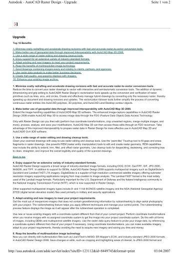Seite 1 von 2 Autodesk - AutoCAD Raster Design - Upgrade 03.04 ...