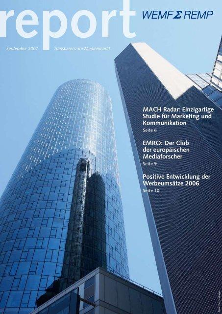 MACH Radar - WEMF AG für Werbemedienforschung