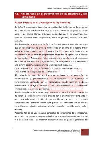 7.4. Fisioterapia en el tratamiento de las fracturas - Universitat ...