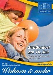 Wohnen & mehr Mai 2012  - Wohnungsgenossenschaft Einigkeit eG ...