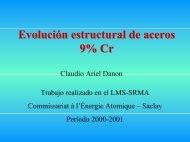 Evolución estructural de aceros 9% Cr