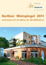 Berliner Mietspiegel 2011 - Wohnungsgenossenschaft MERKUR eG