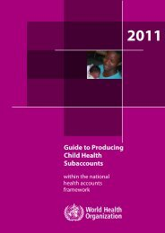 Guide to producing child health subaccounts within the