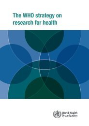 The WHO strategy on research for health - World Health Organization