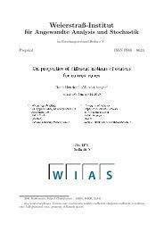 Weierstraß-Institut für Angewandte Analysis und Stochastik