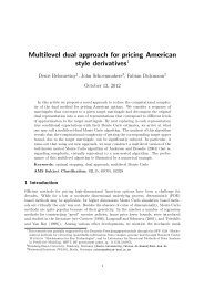 Multilevel dual approach for pricing  American style derivatives - WIAS