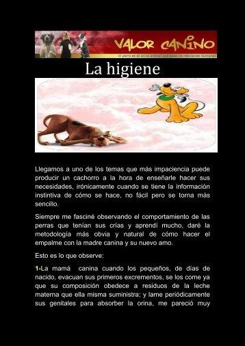 La higiene - Valor Canino