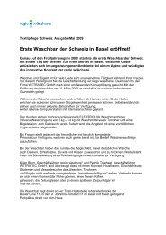 Erste Waschbar der Schweiz in Basel eröffnet! - Wäscherei Regio AG