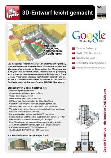 Google SketchUp Pro - Widemann Systeme GmbH